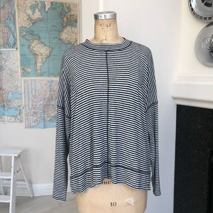 NWOT Lucky Brand sweater striped cozy soft large